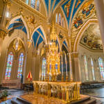 Basilica of the Sacred Heart at Notre Dame - original Gothic Revival altar (handheld 3 exposure HDR)