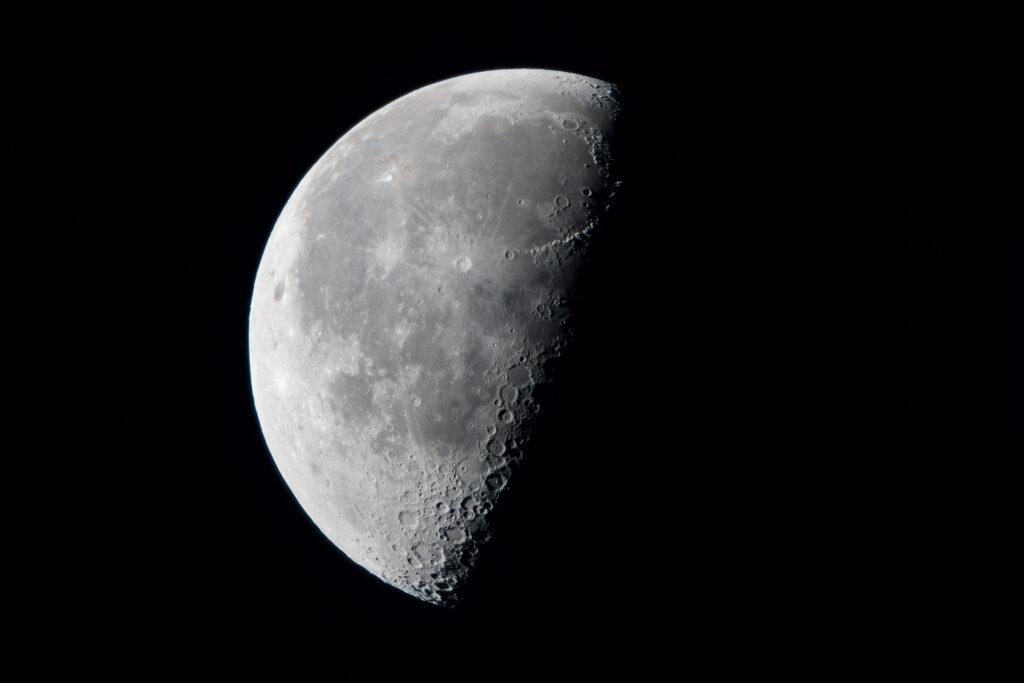 Predawn 55% waning moon