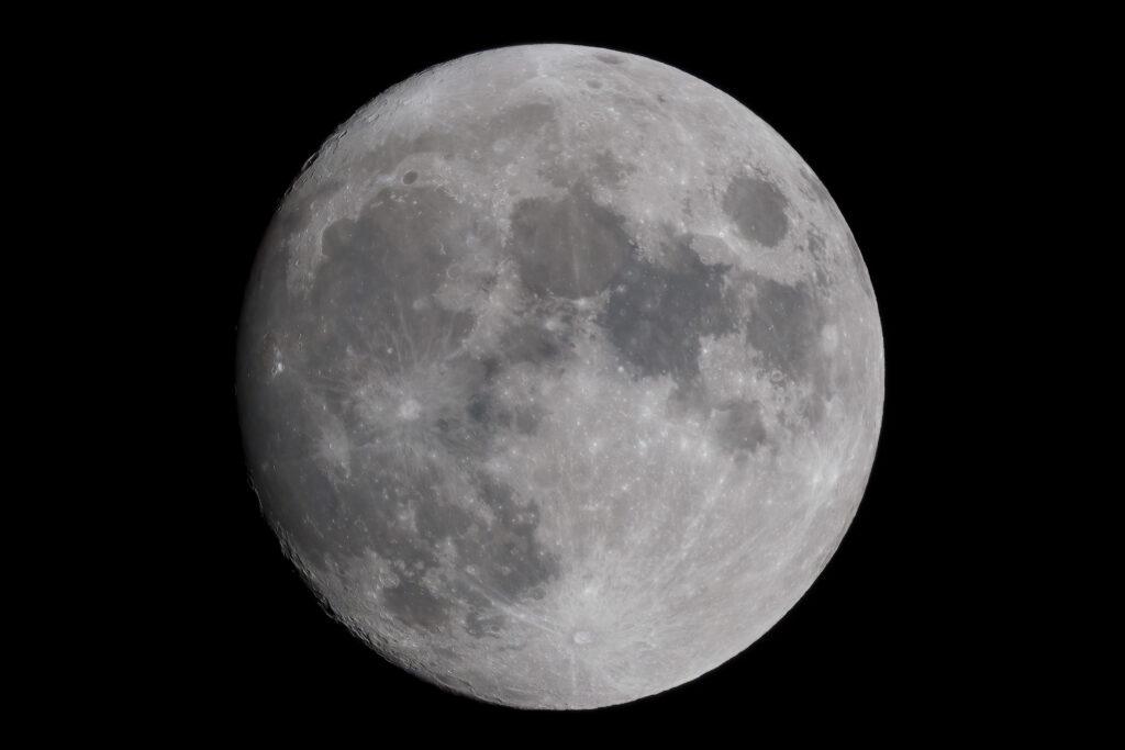Waxing Gibbous (97%) moon